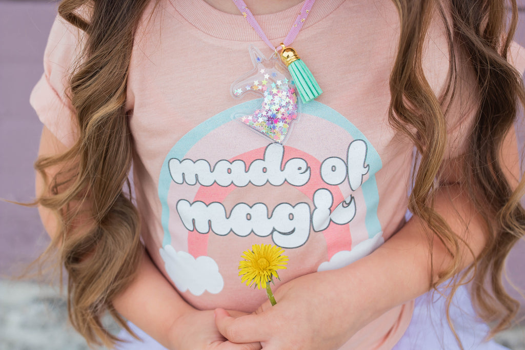 """Made Of Magic"" & ""You Are Magic Baby / Toddler / Youth Peach T-Shirt"
