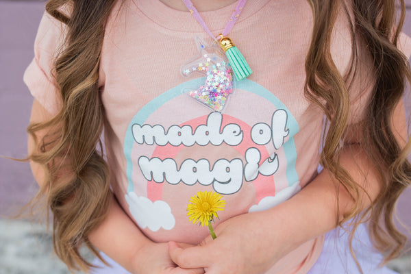 """Made of Magic"" - ""You are Magic"" Baby - Toddler - Youth - Peach T-Shirt"