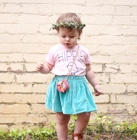 """Hippie Chick"" Baby - Toddler Tee"