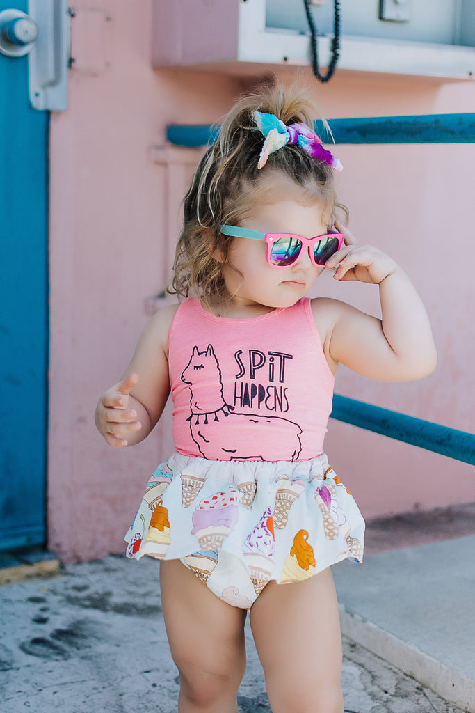 "RTS 3T ""Spit Happens"" (Lashes) Baby - Toddler Tank"