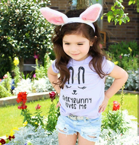 """Everybunny Loves Me"" Baby - Toddler Easter Tee"
