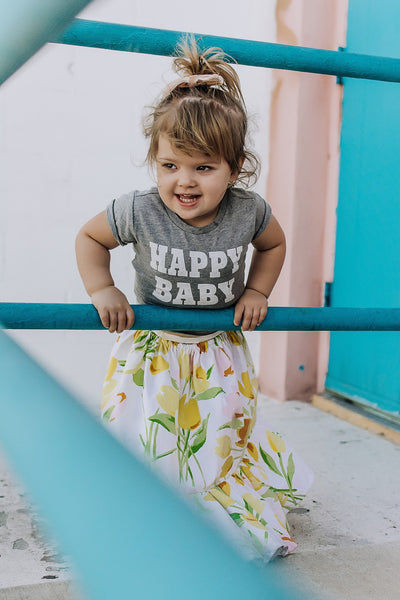 """Happy Baby"" Baby - Toddler Tee"
