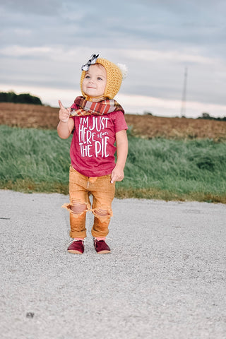 """I'm Just Here For The Pie"" Baby - Toddler Tee"