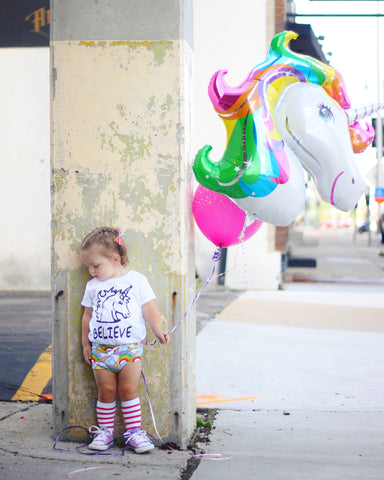 """Believe Unicorn"" Baby - Toddler Tee"