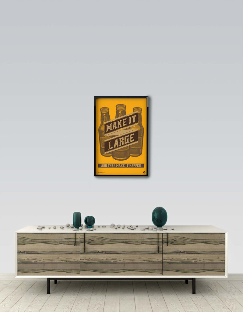 Make It Large - Beer Frame Wall View