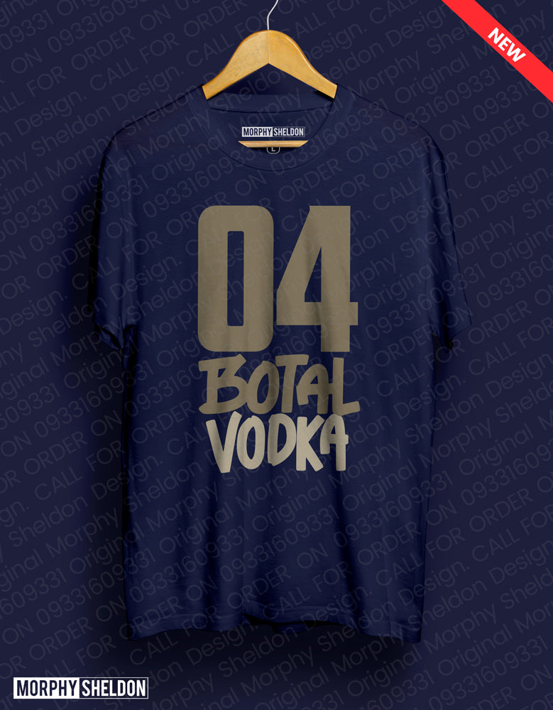 04 Botal Vodka Navy Blue Men's Graphic Print T-Shirt