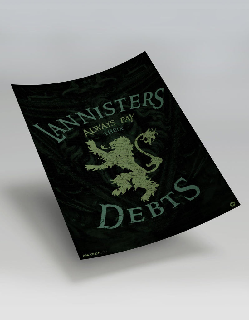 Lannister Pays Debts - GOT Poster View