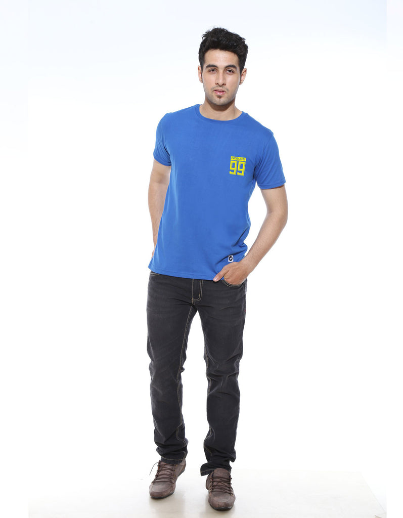 Problems 99 - Royal Blue Men's Half Sleeve Cool T Shirt Model Full Front View