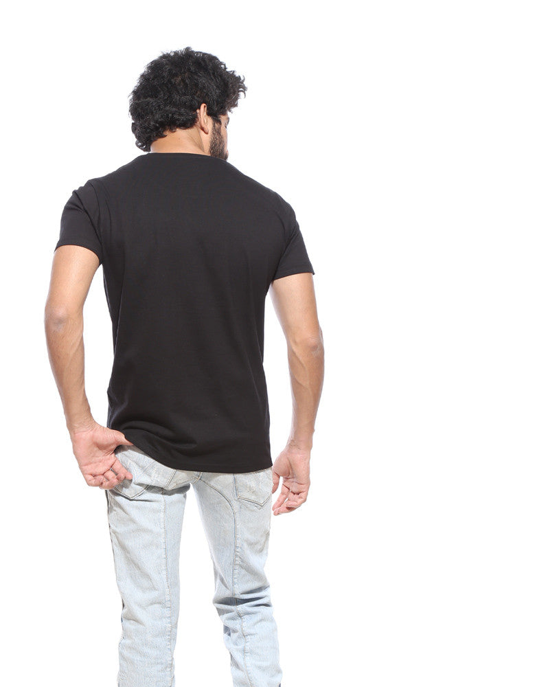 Black Men's Plain Tshirt