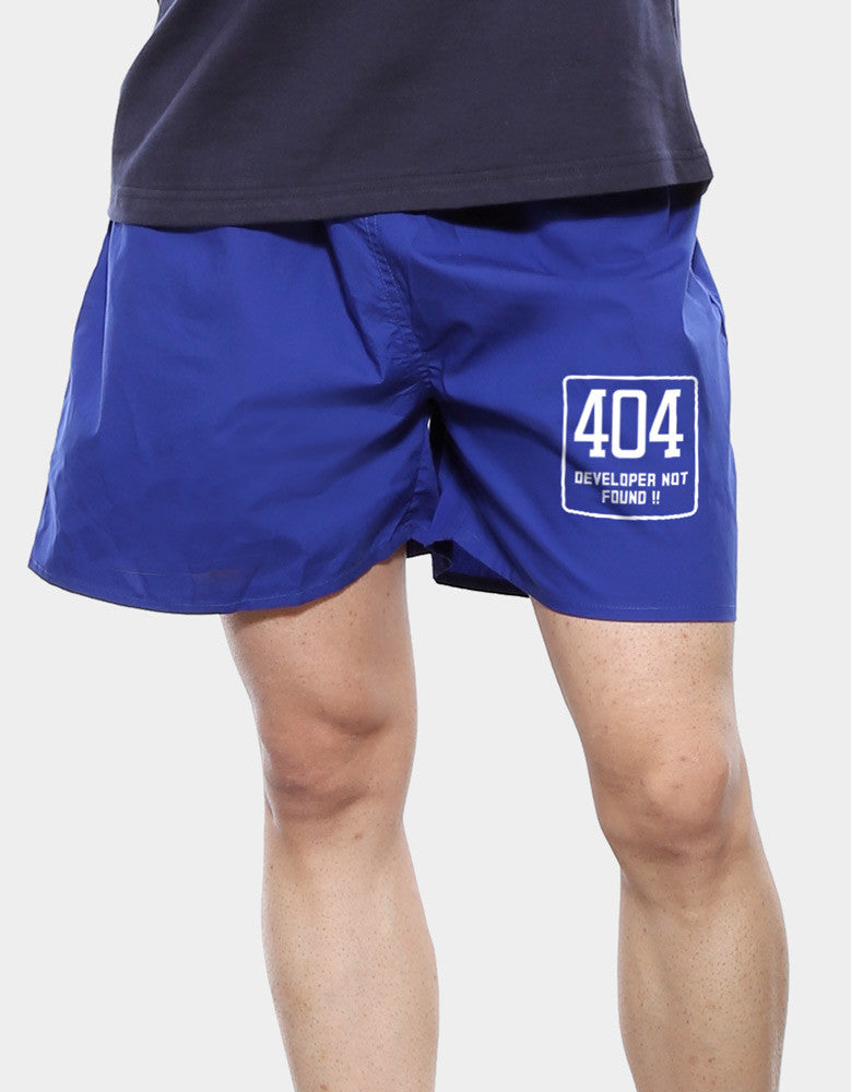404 Not Found - Royal Blue Men's Printed Boxer Short Model Front View