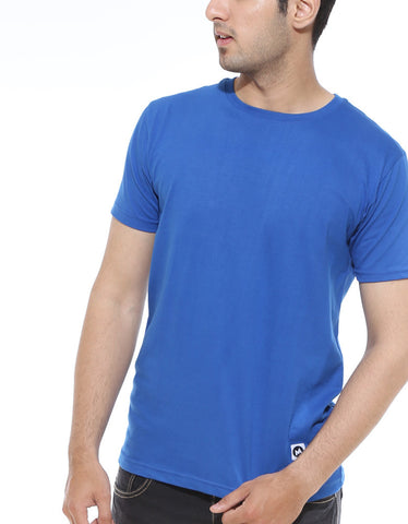 ROYAL BLUE Men's Plain T-shirt
