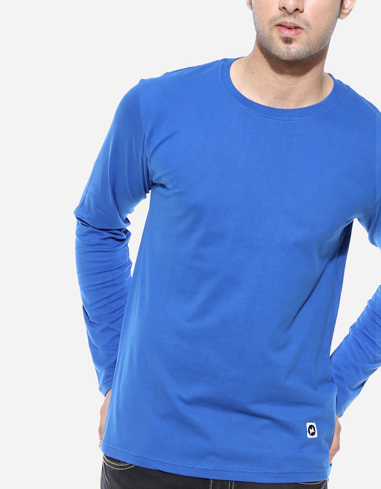 Royal Blue - Men's Plain full sleeve t shirt