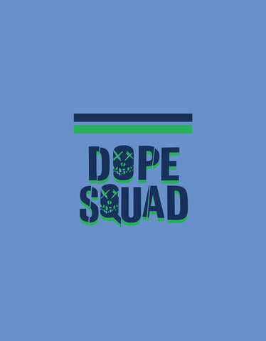 Dope Squad - Lemon Yellow Men's Stoner Pocket Print Vest Design View