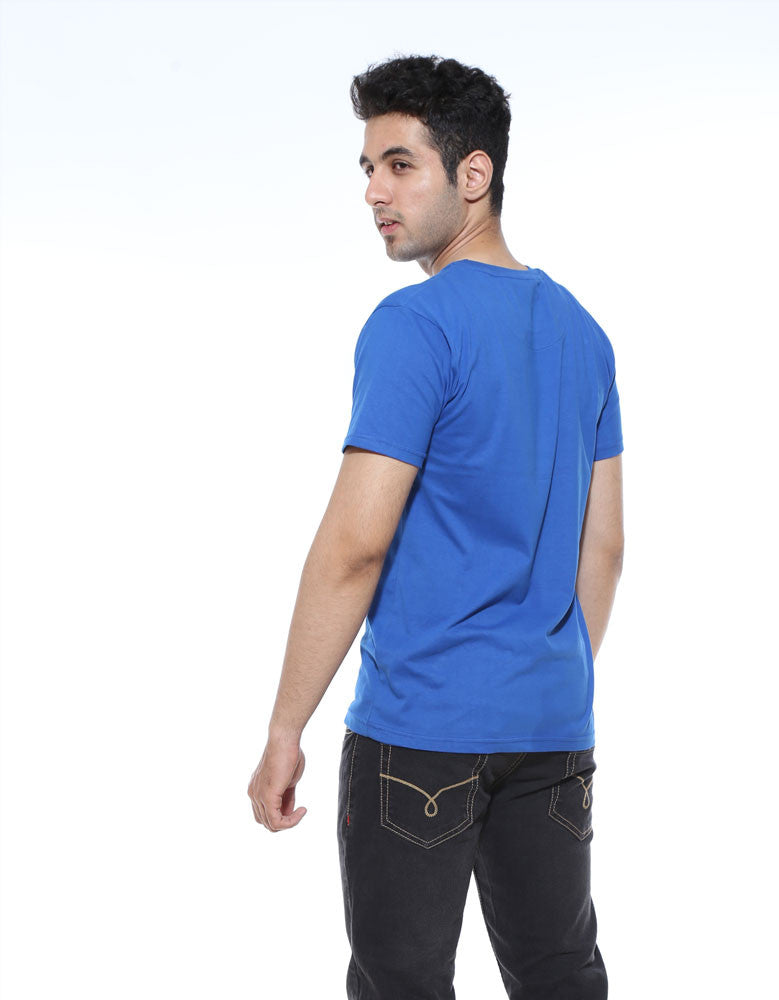 Problems 99 - Royal Blue Men's Half Sleeve Cool T Shirt Model Back View