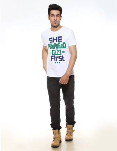 She Proposed Me - Men's Half Sleeve T-Shirt