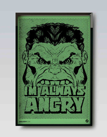 ALWAYS ANGRY - Wooden Frame