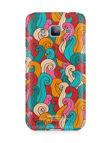 ABSTRACT CURLS - Samsung J3 Phone Cover