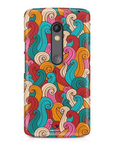 ABSTRACT CURLS - Moto X Play Phone Cover