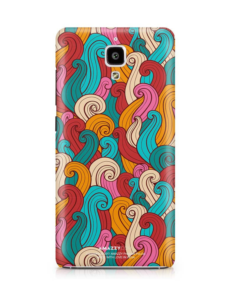 ABSTRACT CURLS - Xiaomi Mi4 Phone Cover View