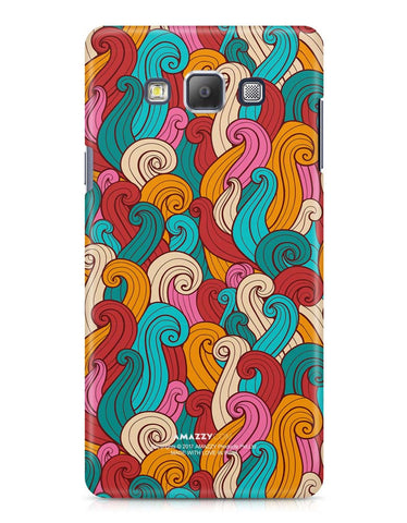ABSTRACT CURLS - Samsung A7 Phone Cover