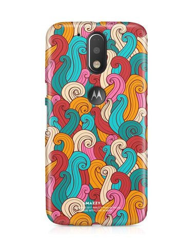 ABSTRACT CURLS - Moto G4 Plus Phone Cover
