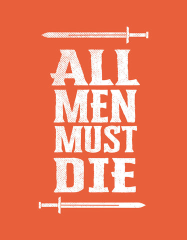 All Men Must Die - Rust Orange Women's TV Series Inspired 3/4 Sleeve Trendy T Shirt Design View