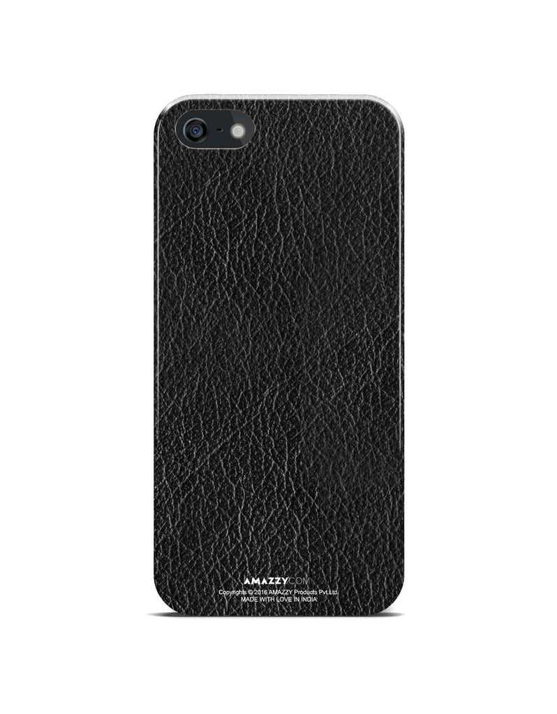 Black Leather Texture - iPhone 5/5s Phone Cover View
