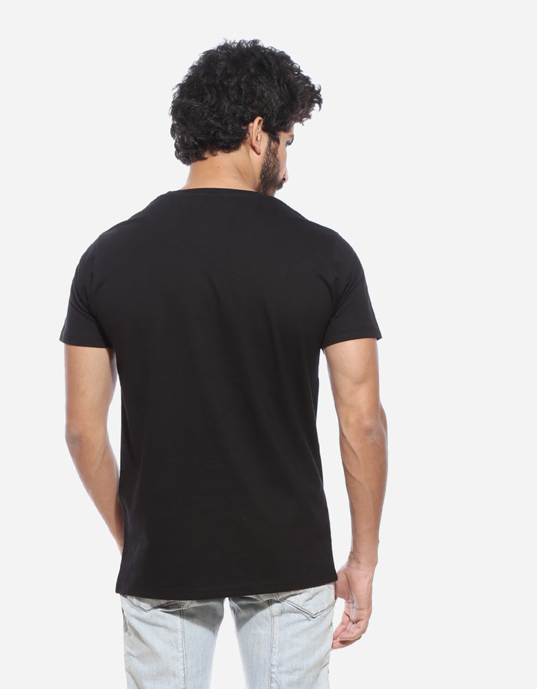 Horcrux - Black Men's Superhero Half Sleeve Funky T Shirt Model Back View