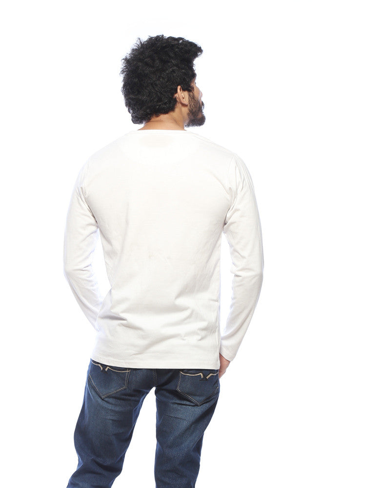 Goddamn Bat - White Men's Superhero Full Sleeve Designer T Shirt Model Back Goddamn Bat - White Men's Superhero Full Sleeve Designer T Shirt Model Back view
