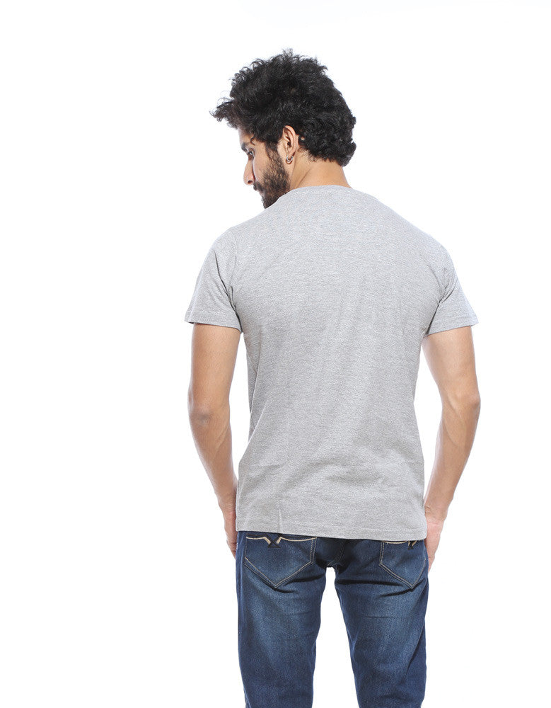 Wand Chooses Wizard -  Grey Men's Superhero Half Sleeve  Graphic T Shirt (Model back view)