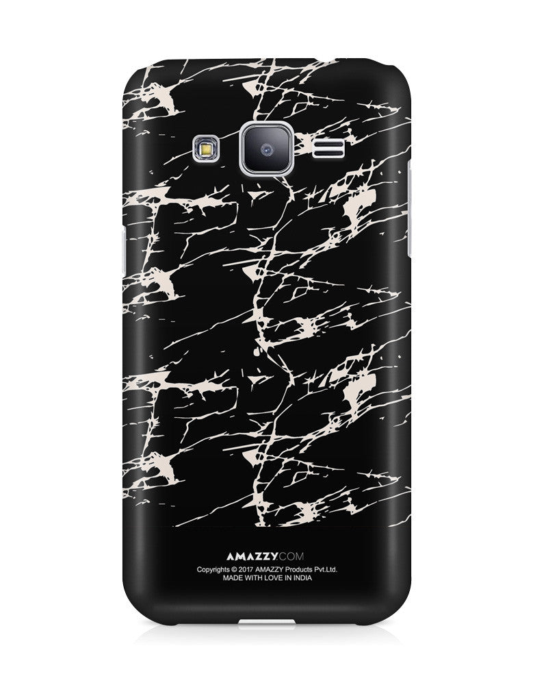 BLACK MARBLE - Samsung J3 Phone Cover