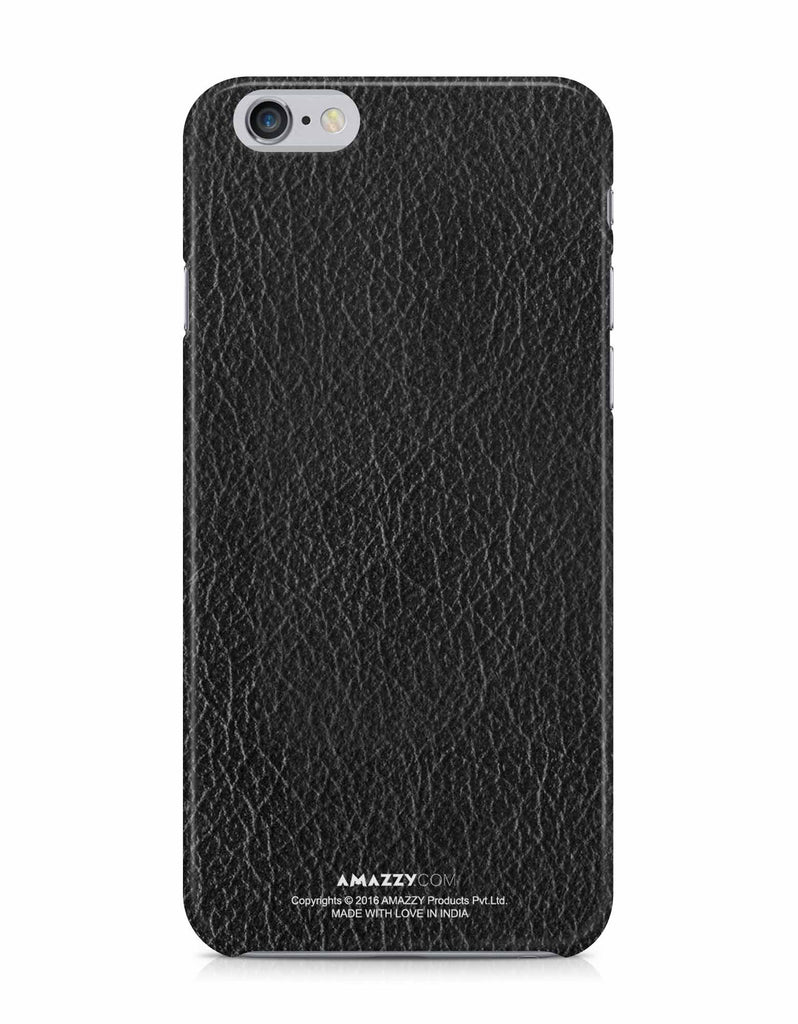 Black Leather Texture - iPhone 6/6s Phone Cover