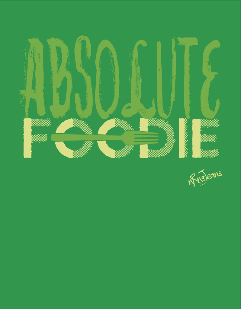 Absolute Foodie - Green Women's Random Short Sleeve Graphic T Shirt  Design View