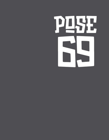 Pose 69 - Charcoal Grey Men's Half Sleeve Pocket Print T Shirt Design View