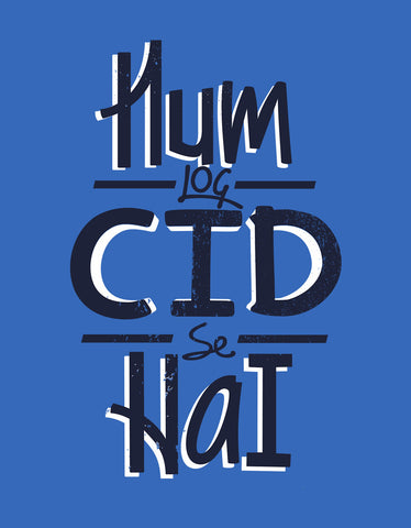 Hum Log CID Se Hai - Royal Blue Men's Half Sleeve Graphic T-shirt Design View