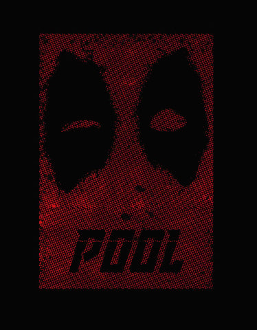Pool -  Black Men's Superhero Half Sleeve Cool T Shirt (Design view )