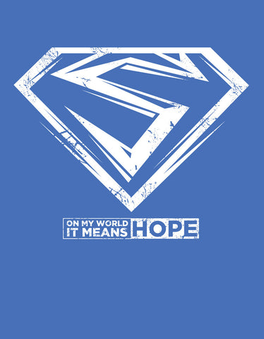 Hope -  Royal Blue Men's Superhero Half Sleeve Cool T Shirt (Design view)
