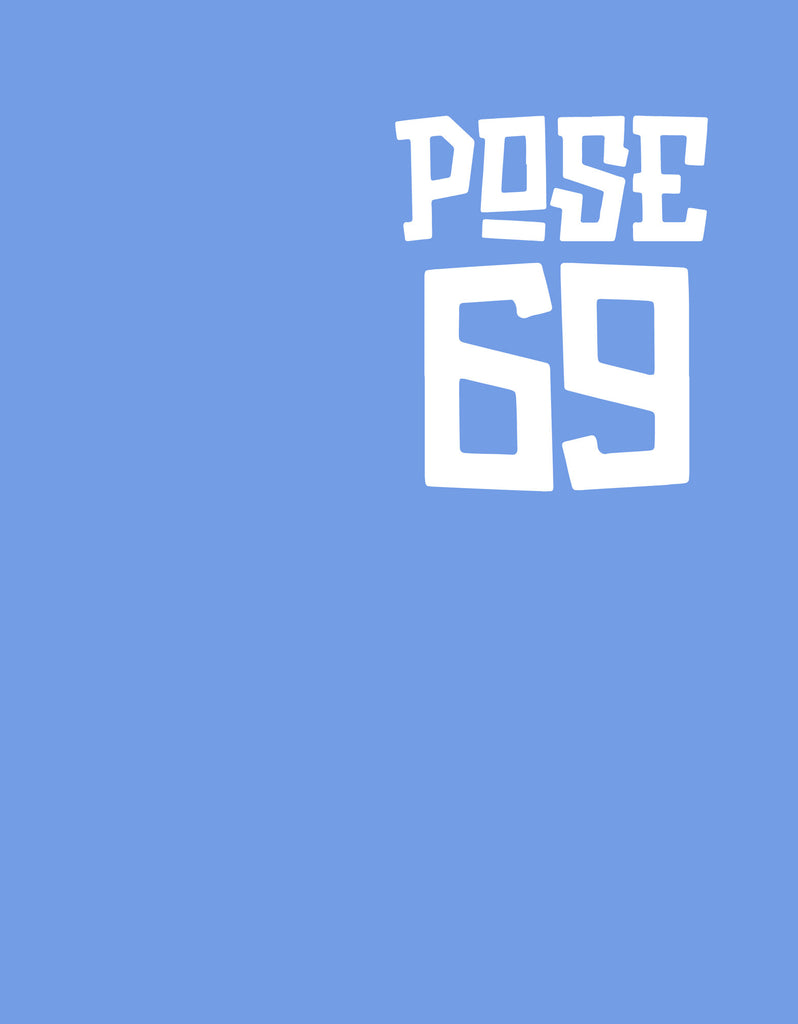 Pose 69 - Blue Melange Men's Half Sleeve Pocket Print T Shirt Design View