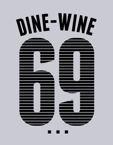 Dine Wine - Grey Men's Full Sleeve Funky T Shirt Design View