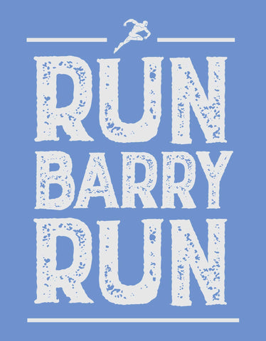 Run Barry Run -  Dark Shadow Blue Men's Superhero Half Sleeve Graphic T Shirt (Design view)
