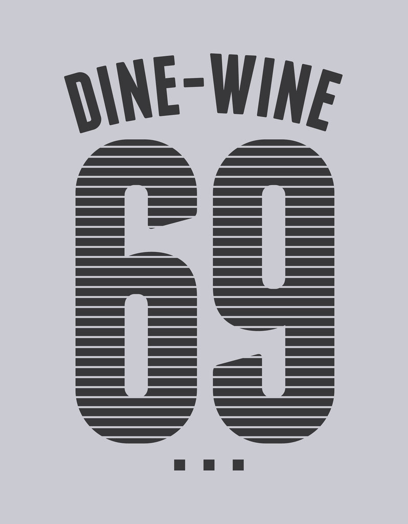 WINE DINE - Men's Half Sleeve T-Shirt