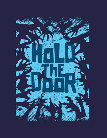 Hold the Door- Navy Blue  Men's Half Sleeve Cool T Shirt Design View