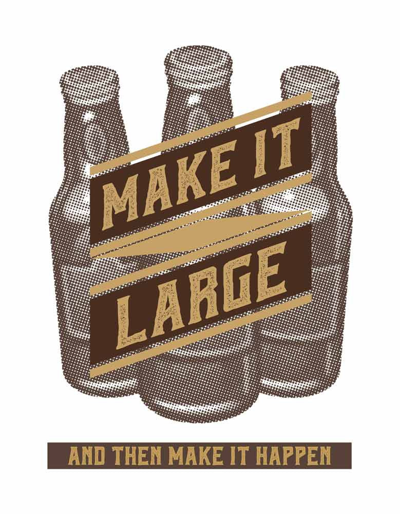 Make It Large -  White Men's Beer Half Sleeve Printed T Shirt Design View