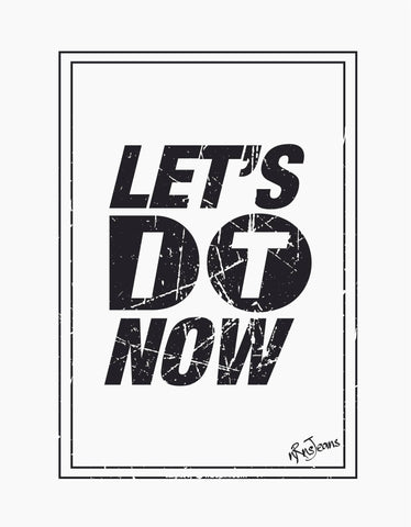 Let's Do It - White Women's Random Short Sleeve Graphic T Shirt Design View