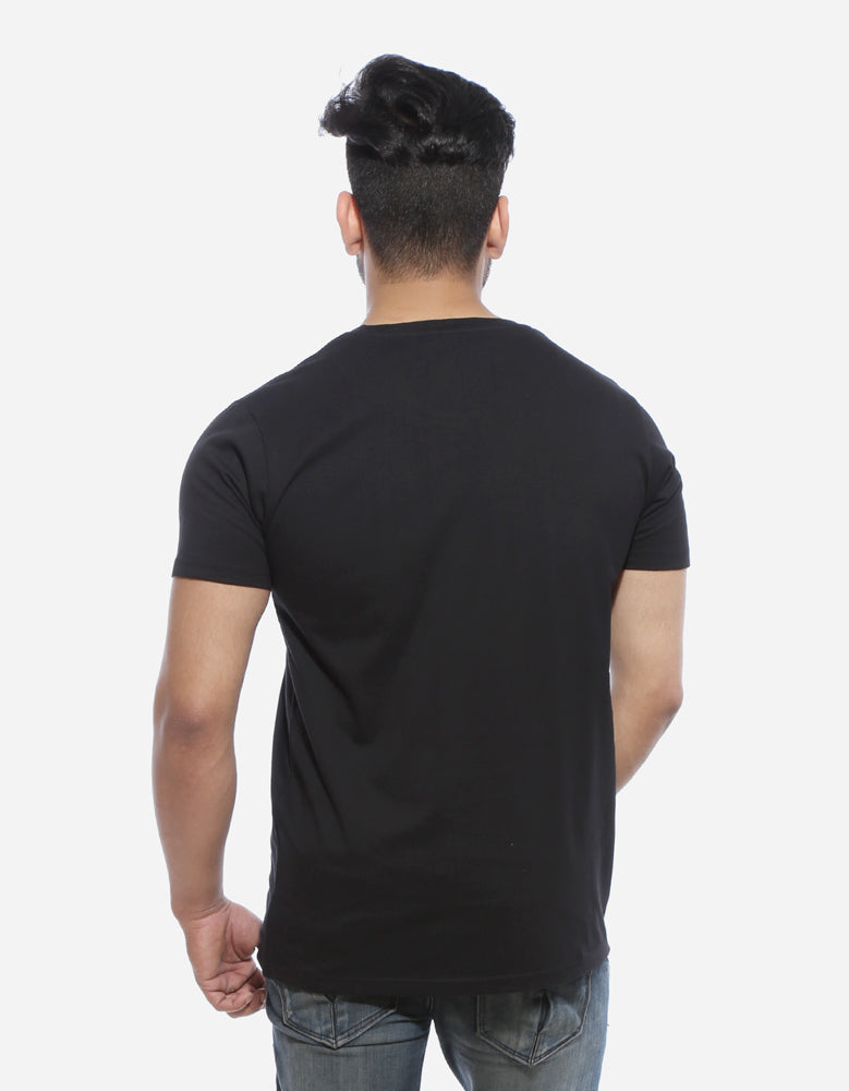 Dracarys - Black Designer GOT Men's Half Sleeve T Shirt Model Back View