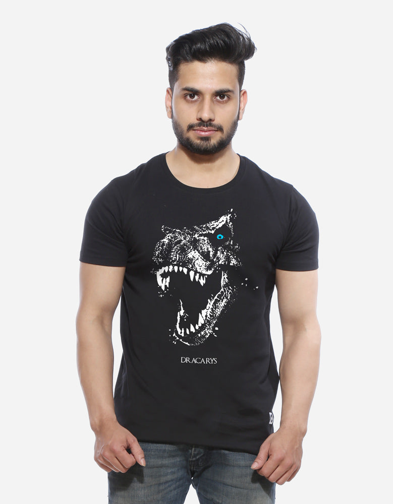 Dracarys - Black Designer GOT Men's Half Sleeve T Shirt