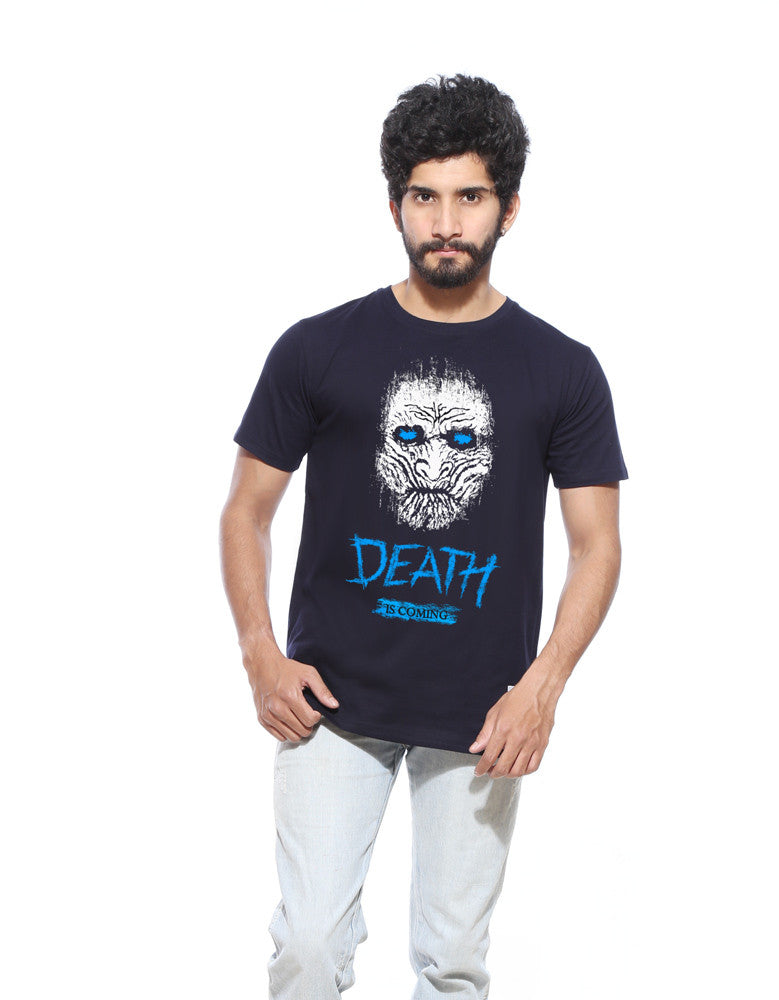 Death Is Coming -  Black Men's GOT Half Sleeve Cool T Shirt (Model front view)