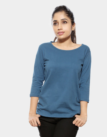3/4 sleeve t shirts women's india