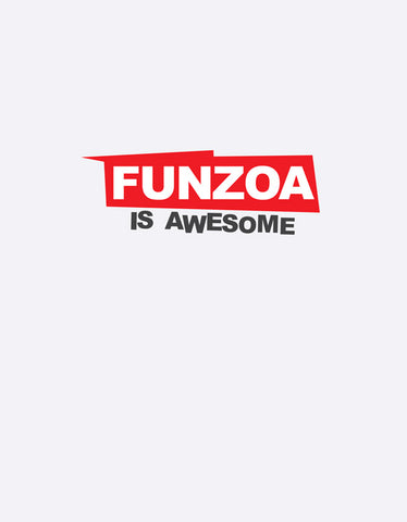 Funzoa is Awesome White Melange 3/4 Sleeve T shirt for Women