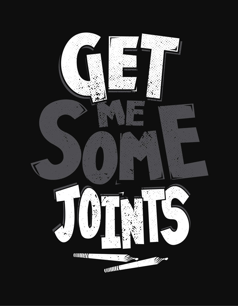 Get Some Joints - Black Funky Men's Half Sleeve T Shirt Design View